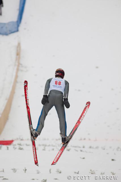 Ski jumping hill