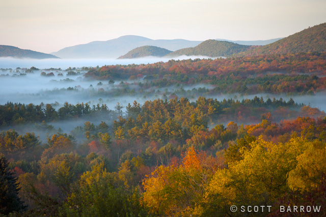 The Berkshire Mountains In Fall As Seen From Lenox